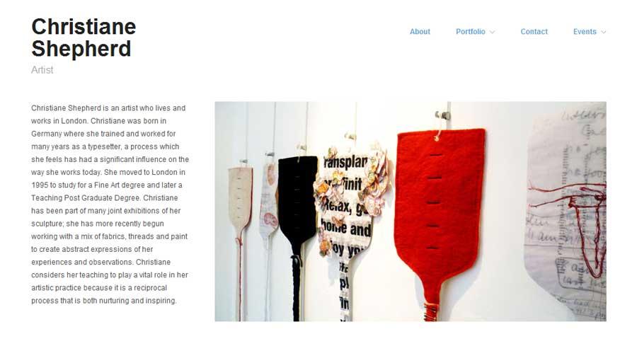 Portfolio Websiteb For Artists