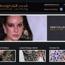 Portfolio Website For Clother Designer & Bespoke Hand Tailored Clothing