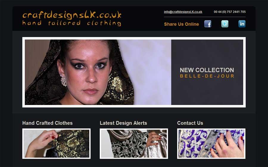 Portfolio Website For Clother Designer & Bespoke Hand Tailored Clothing