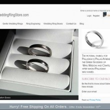 Jewellery Designer-Makers Business Website Selling Palladium Wedding Rings